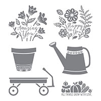 Grown with Love Wood-Mount Stamp Set