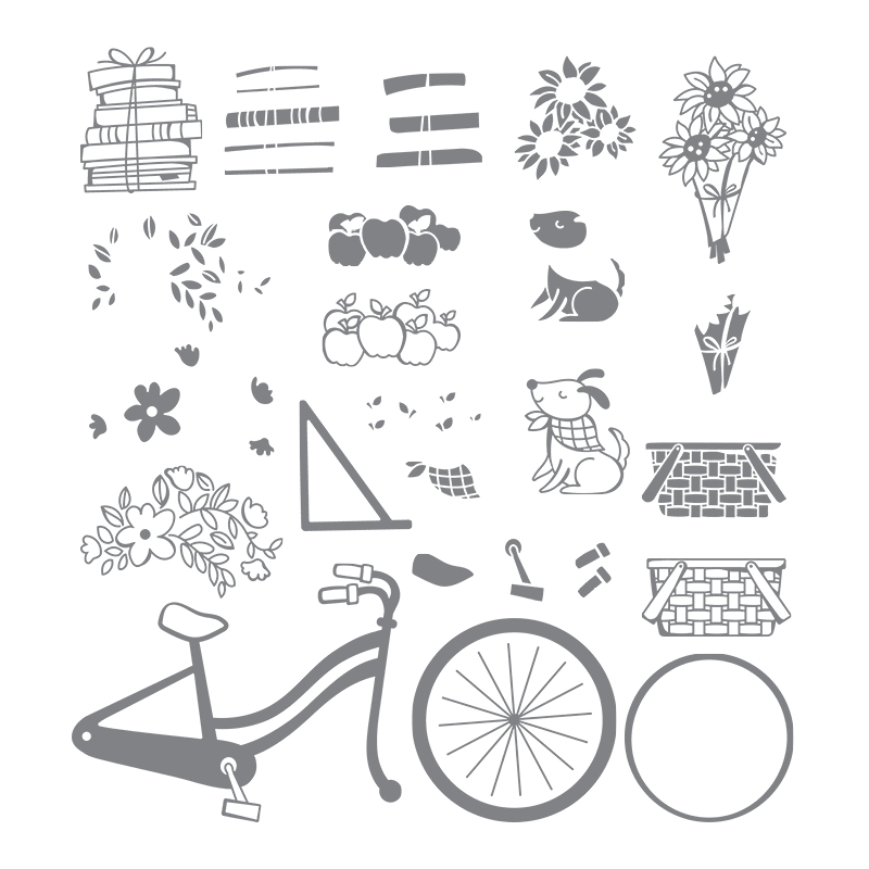 Bike Ride Stamp Set
