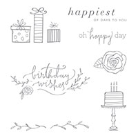 Happiest of Days Clear-Mount Stamp Set
