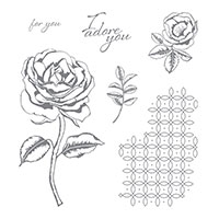 Graceful Garden Wood-Mount Stamp Set