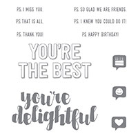 You're Delightful Wood-Mount Stamp Set