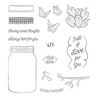 Sharing Sweet Thoughts Wood Mount Stamp Set