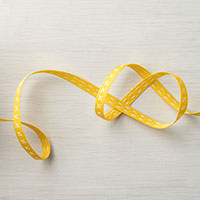 Daffodil Delight 1/4 Double-Stitched Ribbon
