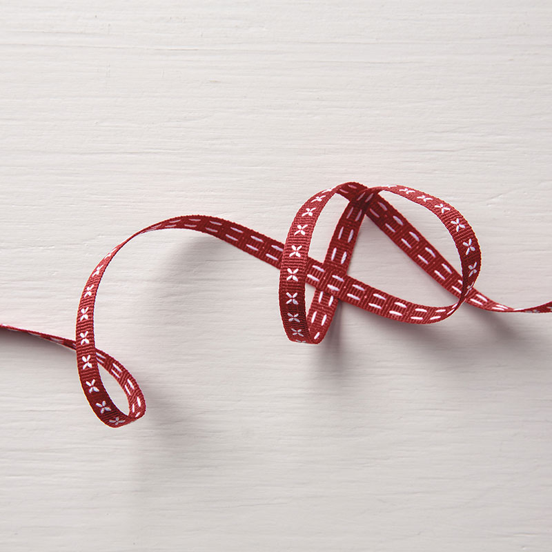 Cherry Cobbler Double Stitched Ribbon