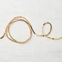 Mini Gold Sequin Trim