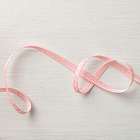 Blushing Bride 1/4 Double-Stitched Ribbon