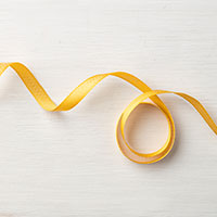 Mini Chevron Crushed Curry Ribbon