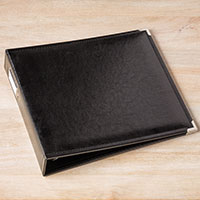 Black Faux Leather 12 x 12 Album