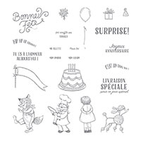 Livraison d'anniversaire Photopolymer Stamp Set (French)