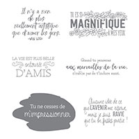 Quelques mots seulement Clear-Mount Stamp Set (French)