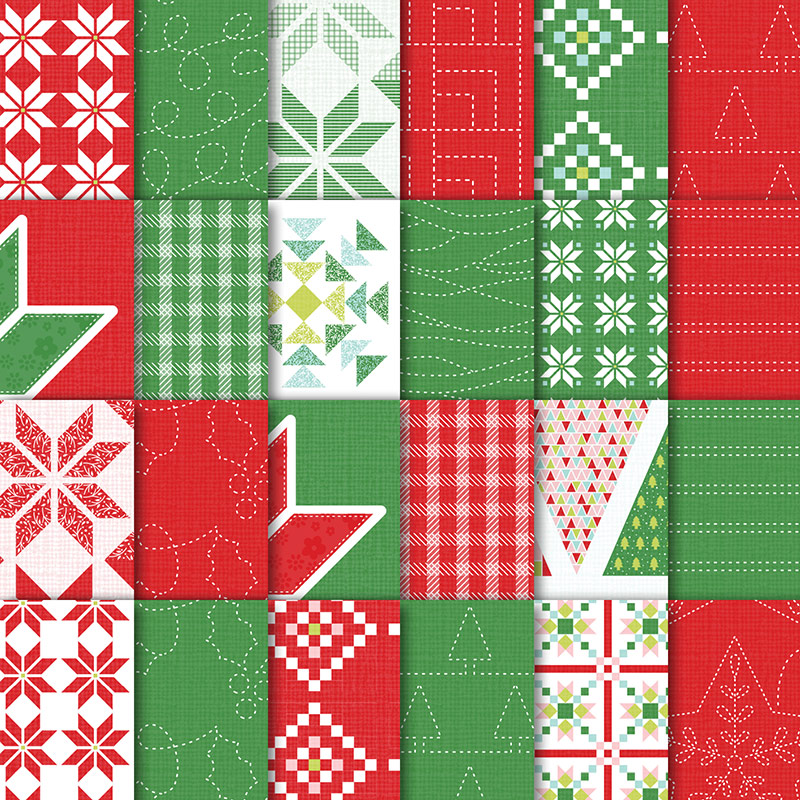 Quilted Christmas Designer Series Paper