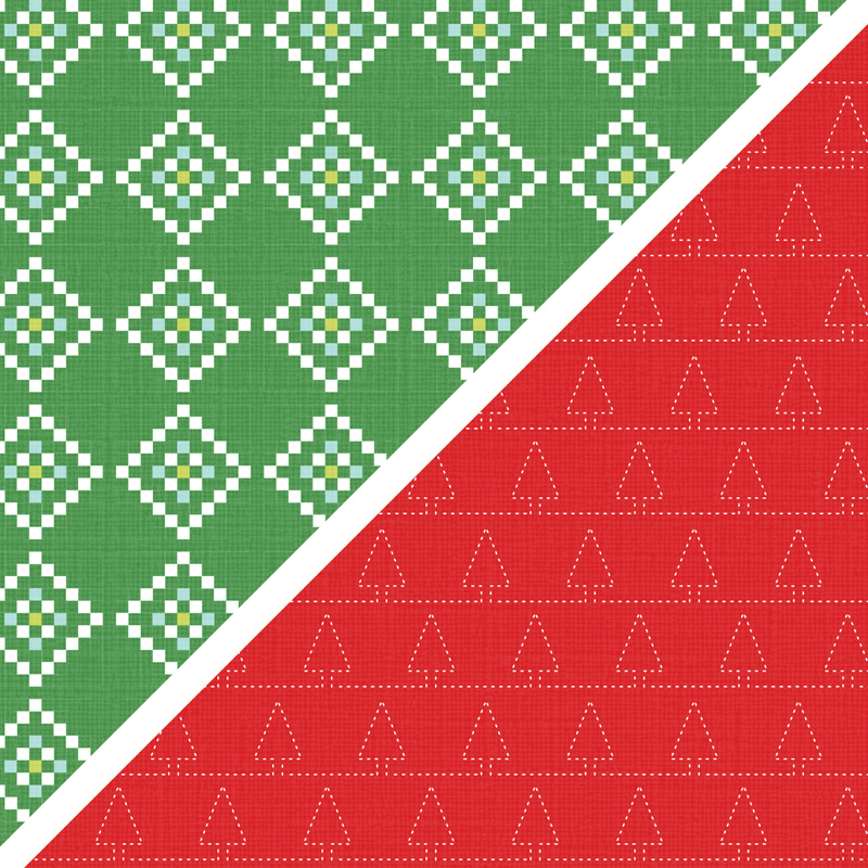 "Quilted Christmas 6"" x 6"" (15.2 x 15.2 cm) Designer Series Paper"
