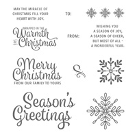 Snowflake Sentiments Wood-Mount Stamp Set