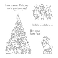 Santa Paws Clear-Mount Stamp Set