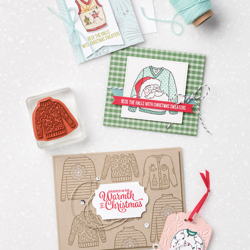 Christmas Sweaters Clear-Mount Stamp Set by Stampin' Up!