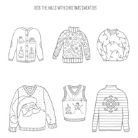 Christmas Sweaters Clear-Mount Stamp Set