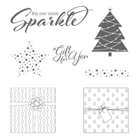 Add a Little Glitz Wood-Mount Stamp Set