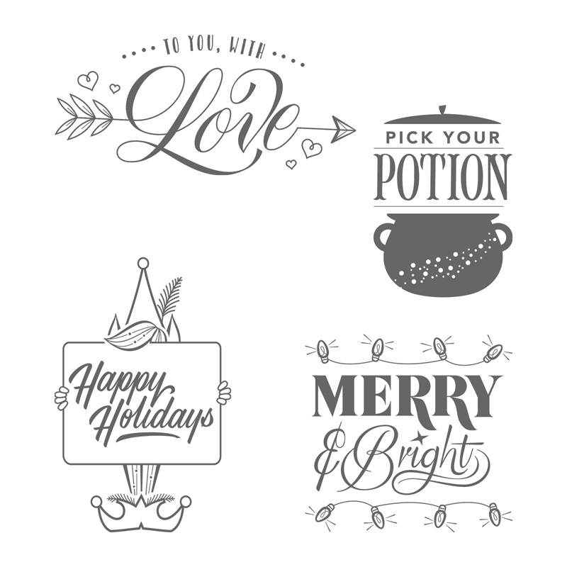 Festive Phrases Clear-Mount Stamp Set
