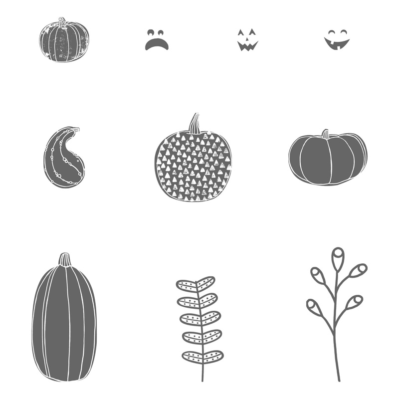 Pick a Pumpkin Stamp Set