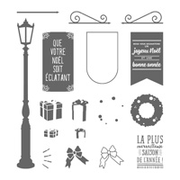 Pleins feux sur Noël Photopolymer Stamp Set (French)