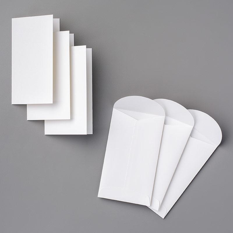 145583 Whisper White Narrow Note Cards & Envelops