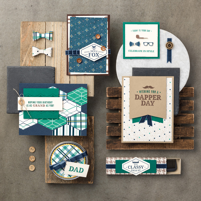 Truly Tailored Wood-Mount Stamp Set