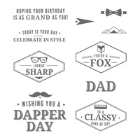 Truly Tailored Clear Mount Stamp Set