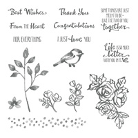 Petal Palette Wood Mount Stamp Set