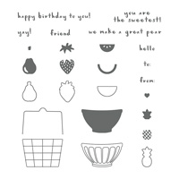 Fruit Basket Photopolymer Stamp Set