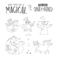Magical Day Wood Mount Stamp Set