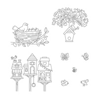 Flying Home Wood-Mount Stamp Set