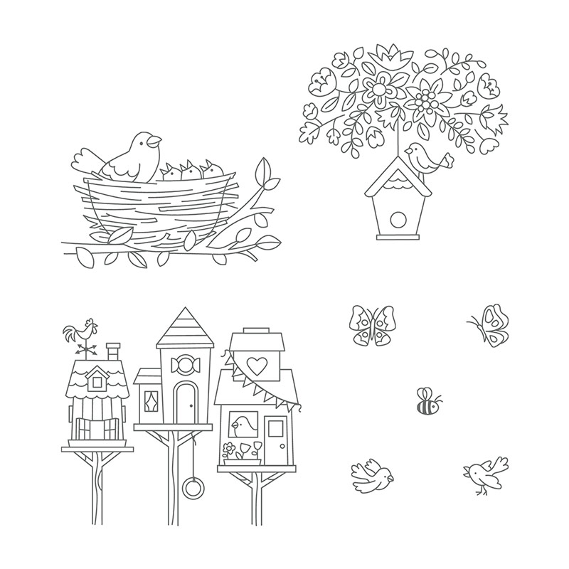 Flying Home Clear-Mount Stamp Set