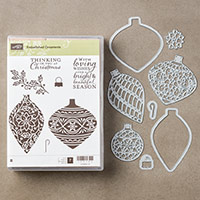Embellished Ornaments and Delicate Ornament Bundle (Wood)