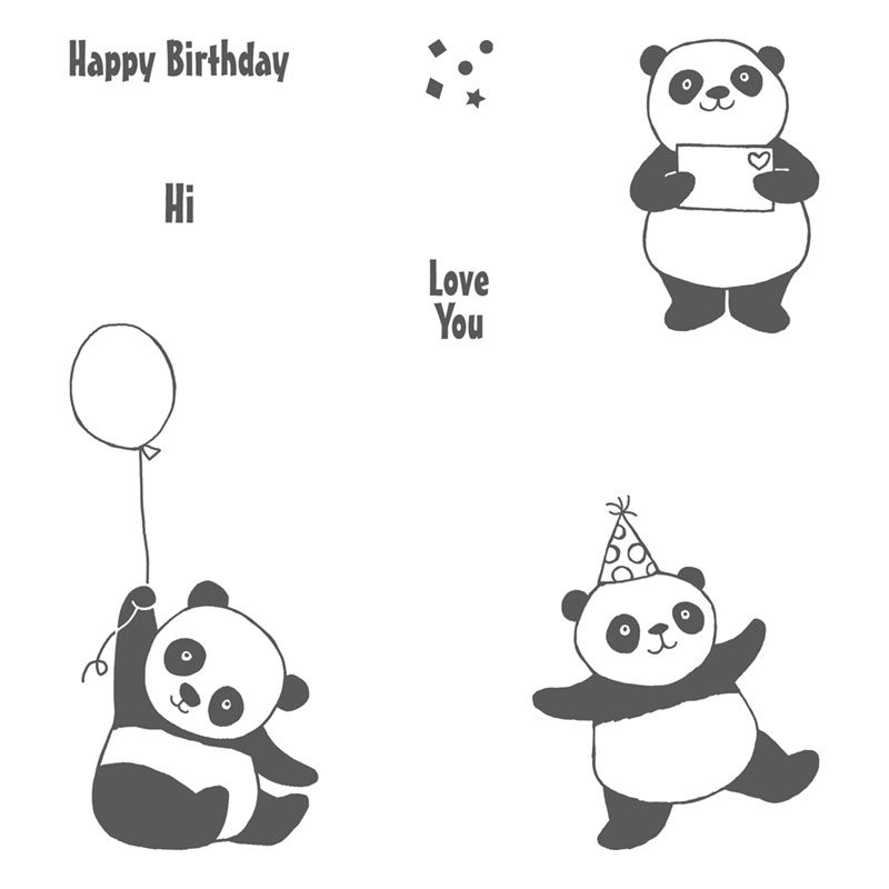 Image result for Party panda stamp set