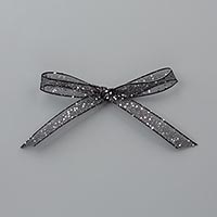 Black Glittered Organdy Ribbon