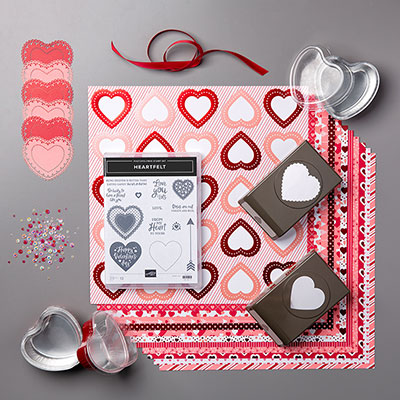 Valentine's Day handmade card kit by Stampin' Up!