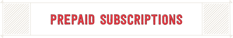 Prepaid Subscriptions